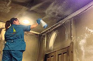 Убрать после пожара, потопа - клининг от компании ДЕН