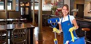 Уборка зданий ресторанов, кафе, магазинов